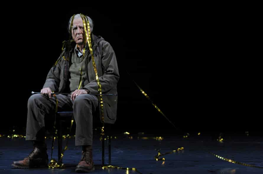 Geoffrey Rush playing Lear at the Roslyn Packer theatre in Sydney