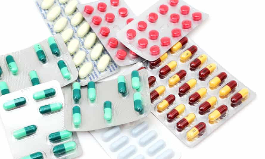 A Collection Of Antibiotics In Blister Packs