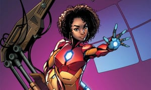 J Scott Campbell's variant Iron Man cover showing Riri Williams in her superhero suit, which is still on sale