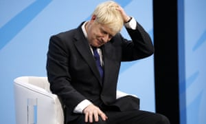 BRITAIN-EU-POLITICS-BREXIT-CONSERVATIVEConservative MP and leadership contender Boris Johnson gestures as he addresses the final Conservative Party leadership election hustings in London, on July 17, 2019. - The battle to become Britain's next prime minister enters the home straight on Wednesday with both candidates hardening their positions on Brexit, putting the future government on a collision course with Brussels. (Photo by Tolga AKMEN / AFP)TOLGA AKMEN/AFP/Getty Images
