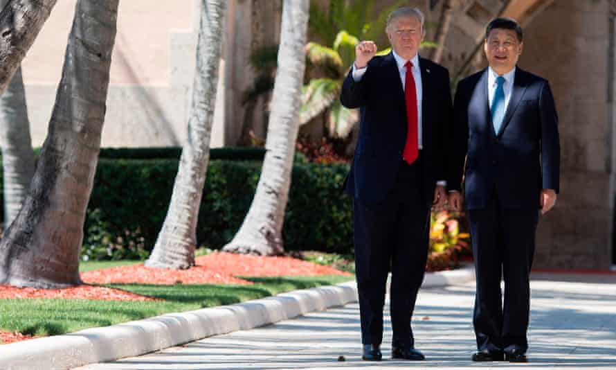 Donald Trump and Chinese president Xi Jinping at Mar-a-Lago on 7 April 2017.