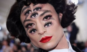 An eye for the surreal: Ezra Miller at the Met Gala.