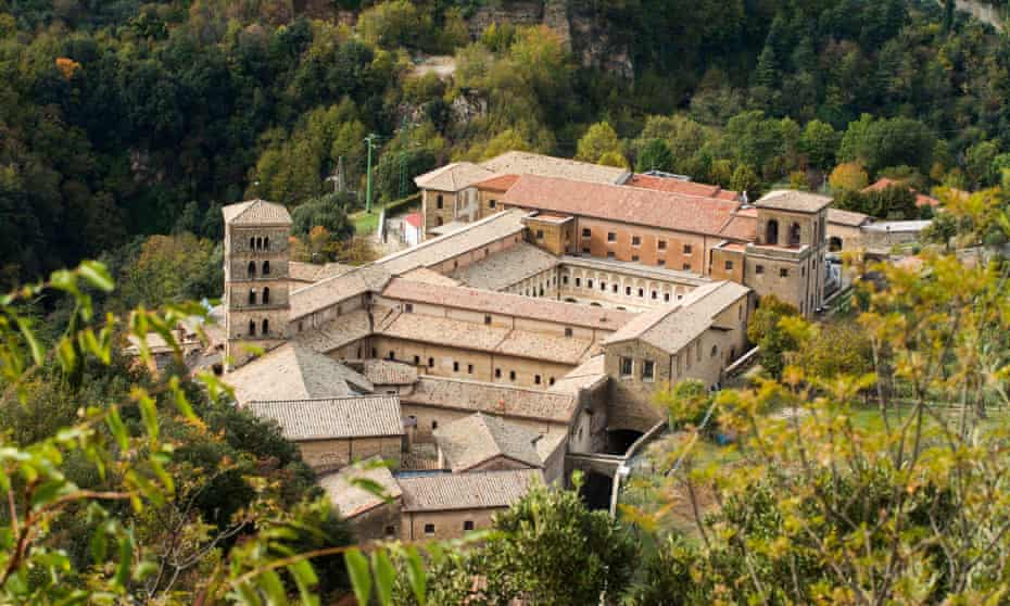 The monastery at Subiaco, founded by Saint Benedict.