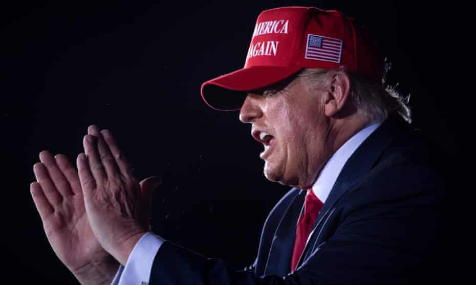Donald Trump making a speech
