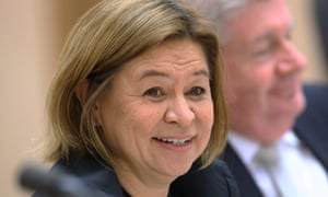 The managing director of the ABC, Michelle Guthrie, before the Senate environment and communications committee