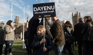 A protest in Parliament Square in March against antisemitism in the Labour party