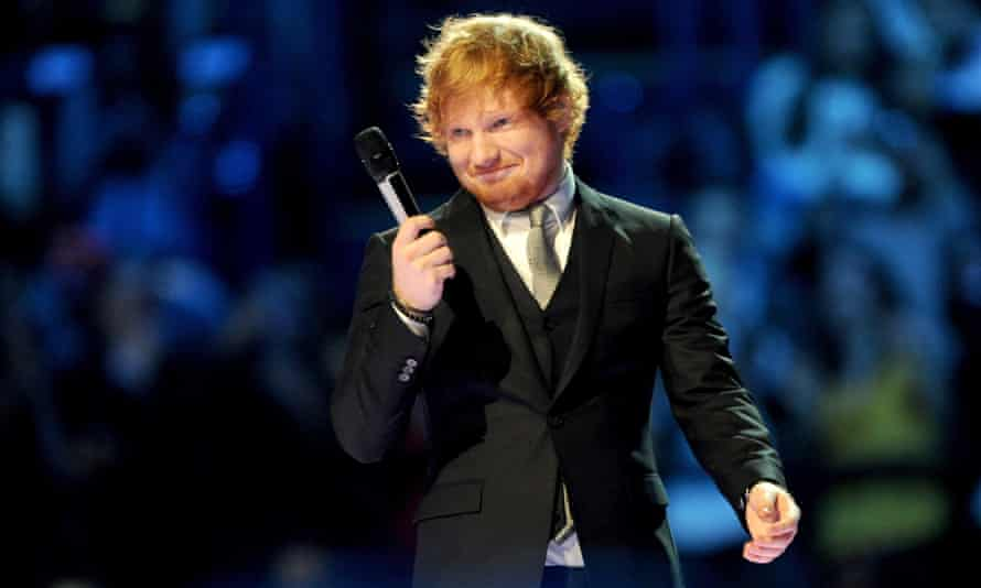 Ed Sheeran in a splendidly starched shirt.