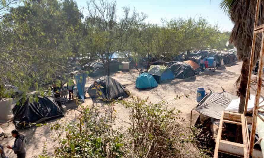 The Matamoros refugee camp, on the side of Matamoros, Tamaulipas, Mexico, 27 February 2020.