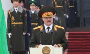 Alexander Lukashenko during his inauguration.