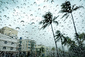 A rainy Miami Beach. The virus had hit Florida particularly hard, and its tourism industry had been ravaged.
