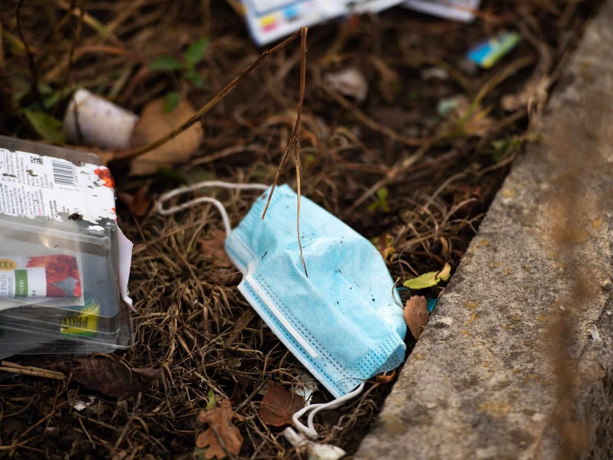 53m discarded Covid face masks in UK 'could be polluting the sea' | Coronavirus | The Guardian