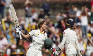 Australia's Ellyse Perry becomes only the seventh woman to hit a Test double hundred