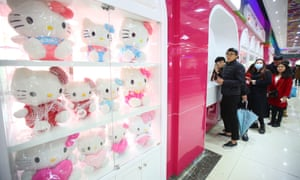 A Hello Kitty-themed canteen opened at a university in Hangzhou city, Zhejiang province, China in December.