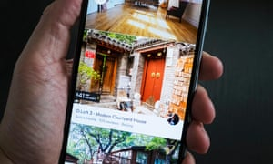 An Airbnb let in Beijing showing on a smartphone