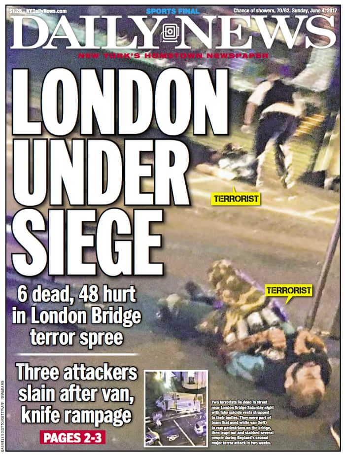 Newspaper front pages after the London Bridge attacks – in