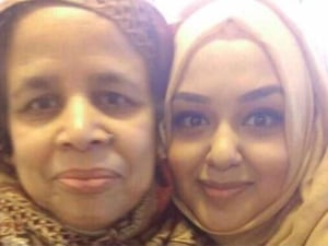 Rabia Begum with her daughter Husna.