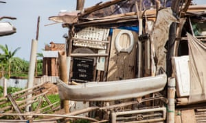 A makeshift house in Namuwongo