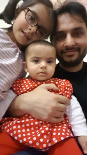 Dr Kazmi and young daughters