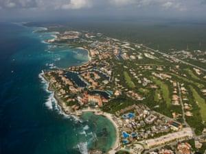 Yucatán peninsula in Mexico