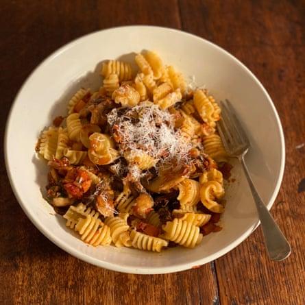 Anna Del Conte's mushroom pasta