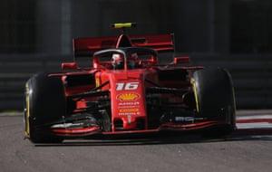 Leclerc, hunting Mercedes.