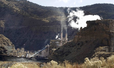 The coal-fired Castle Gate Power Plant is pictured outside Helper, Utah.