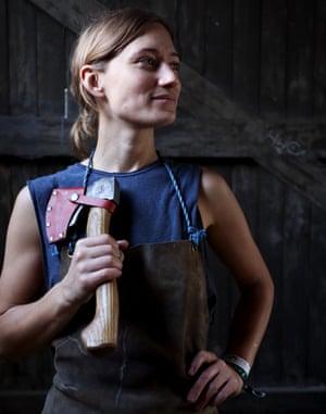 Axe maker Julia Kalthoff