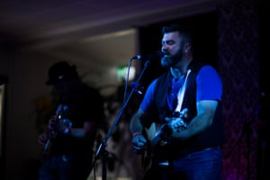 Richo Richardson and the Killers from Maleny, Queensland, play to a packed house at the Nimbin bowls club