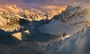 The Khumbu region of the Nepal Himalayas.