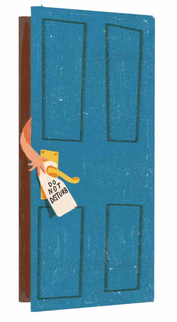 illustration of door with 'do not disturb'