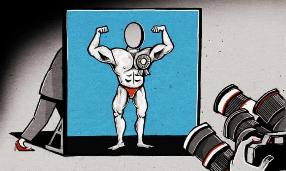 Ben Jennings' illustration for men in politics
