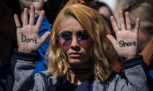 Daisy Hernandez, 22, from Stafford, Virginia, attends the March for Our Lives rally in Washington