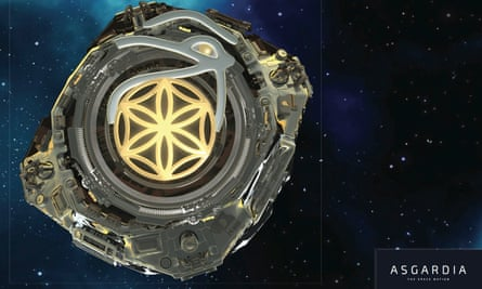 An artist's impression of the new space nation's first satellite.