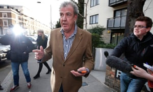 """Jeremy Clarkson leaves his home in London."""