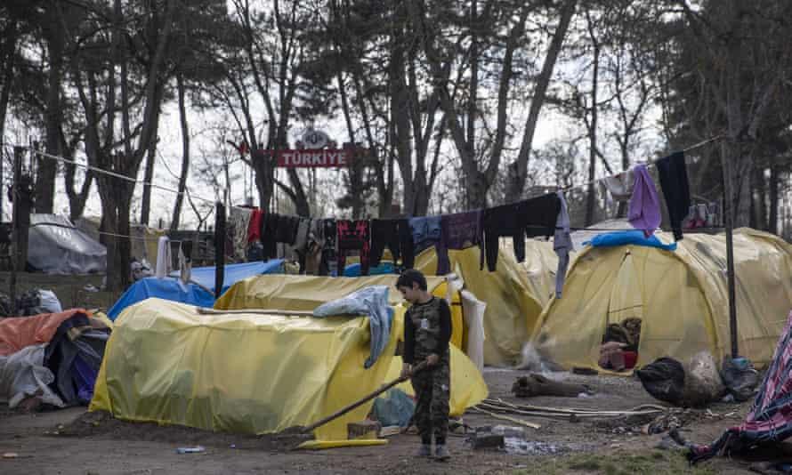 Asylum seekers in Edirne province, Turkey