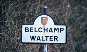A sign for Belchamp Walter in Essex
