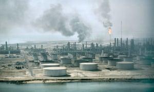 And oil refinery in Dahran, Saudi Arabia