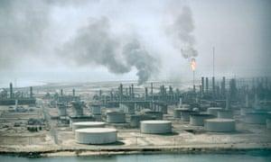 An Aramco oil refinery in Dahran, Saudi Arabia.