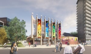 Artist's rendering of the Leeds Playhouse's new entrance.