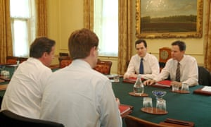 Nick Clegg meets David Cameron, Danny Alexander and George Osborne to plan the coalition's first budget