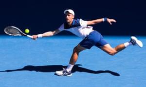 Djokovic Raises Australian Open Health Fears After Beating Monfils In 39c Heat Sport The Guardian