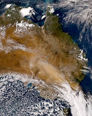 A dust storm sweeps across the eastern states of Australia.