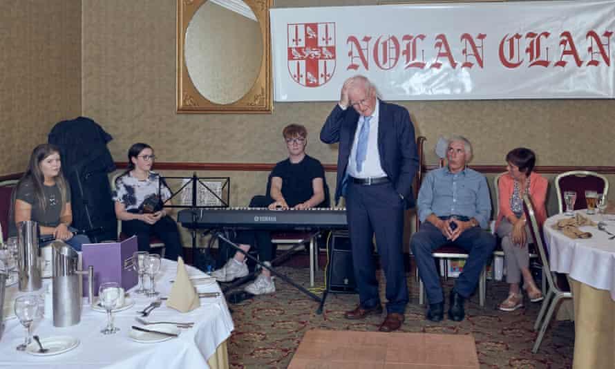 Desmond Nolan tries to remember the lyrics of an Irish folk song.