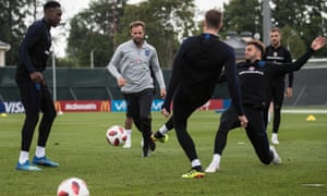 The England squad during training on Thursday.