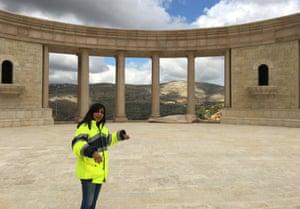 Civil engineer Shadia Jaradat pauses on a tour of Rawabi.