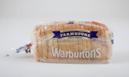 Warburtons Farmhouse white bread loaf