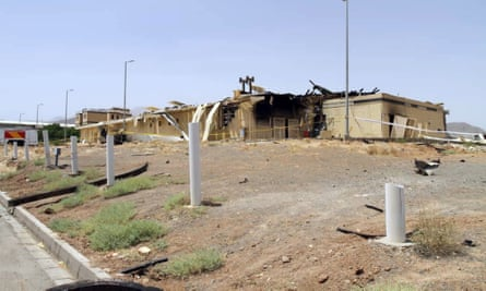A building at Iran's uranium enrichment facility in Natanz that was damaged by fire in July.