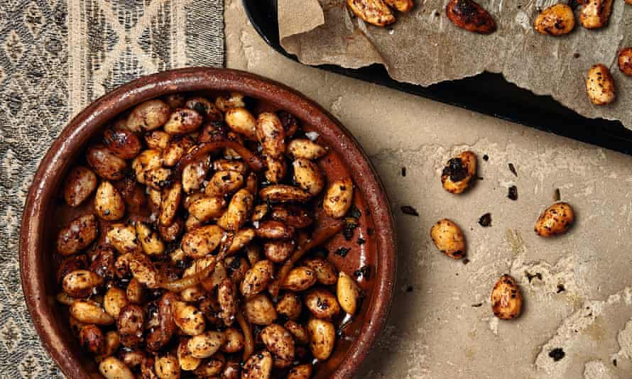 Yotam Ottolenghi's lemon and sage roasted almonds.