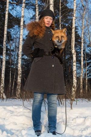 Genetics graduate student Irina Mukhamedshina and her pet – and thesis project – Viliya.