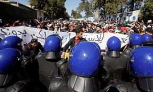 Students protest in Algiers